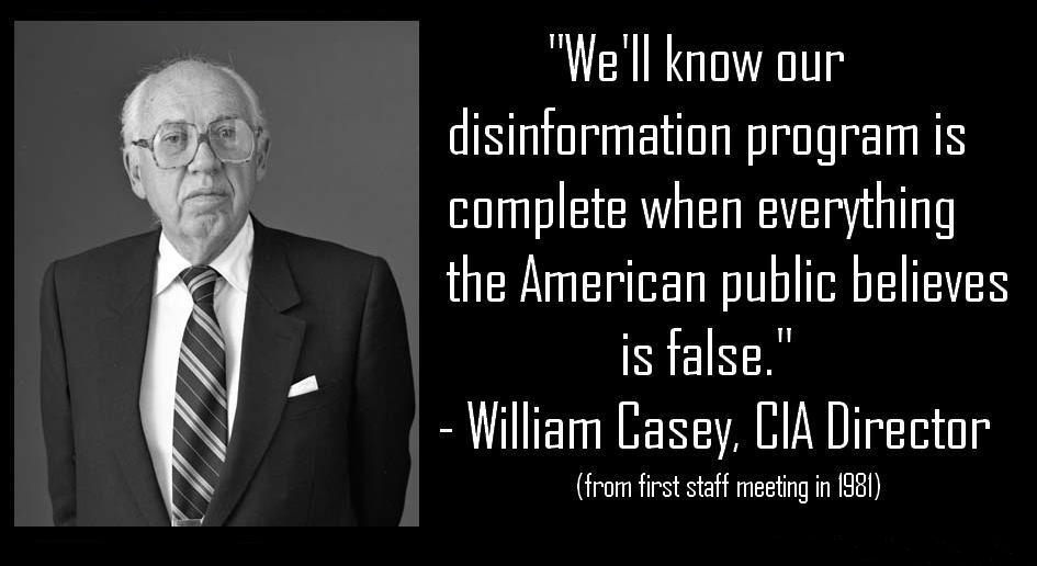 Paradigm Shift: We'll know our disinformation program is complete when everything the American ...